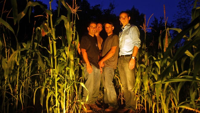 Michael Mancini, from left, Mathew Tuffarelli, Marc Mancini and Rich LaMance are the organizers of The Haunt at Rocky Ledge, a combination haunted house/corn field/haunted wooded trail in North White Plains.