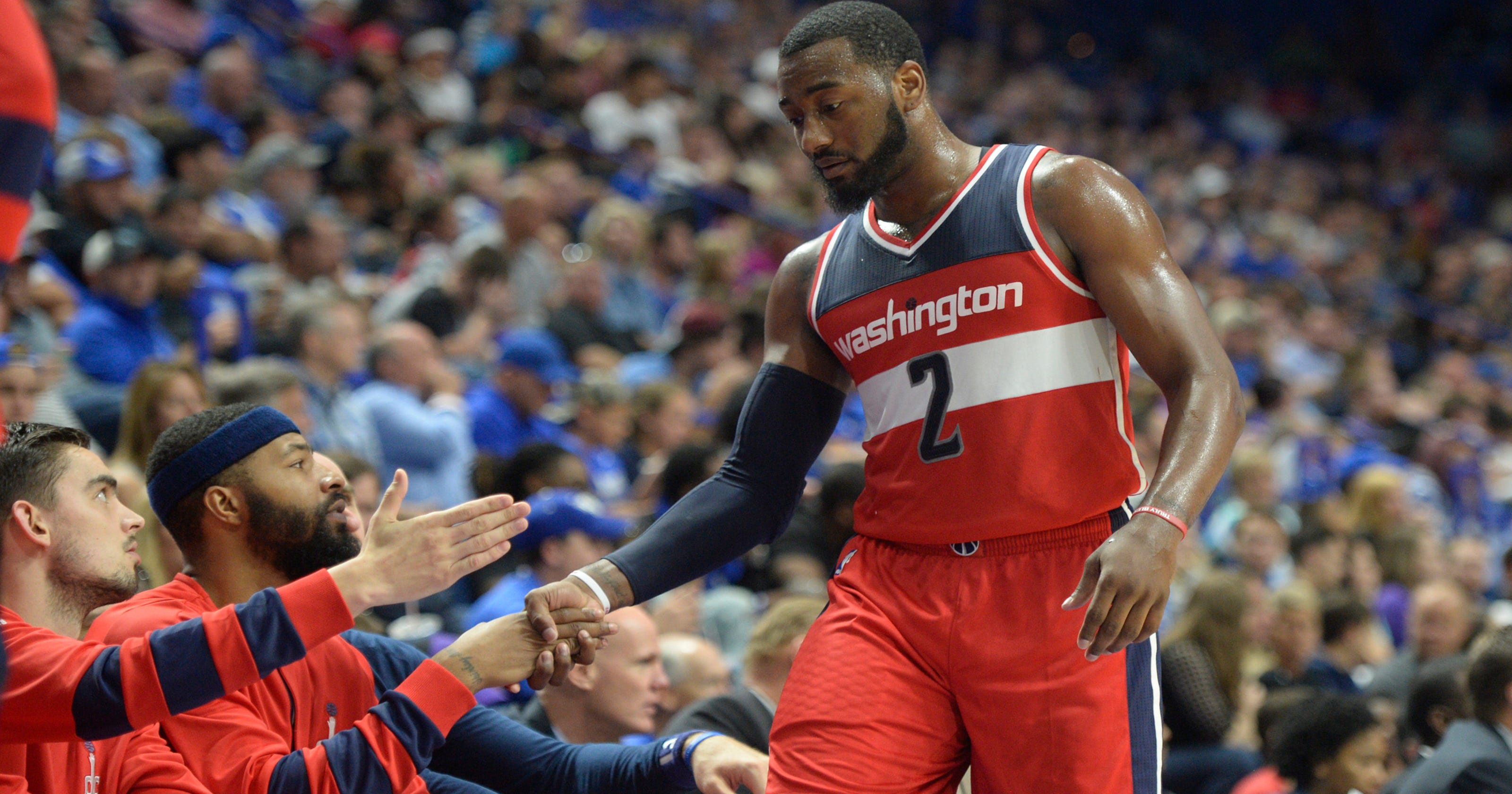 detailed look 9ec32 45e91 Time for giving: Former UK star John Wall gives teammates ...