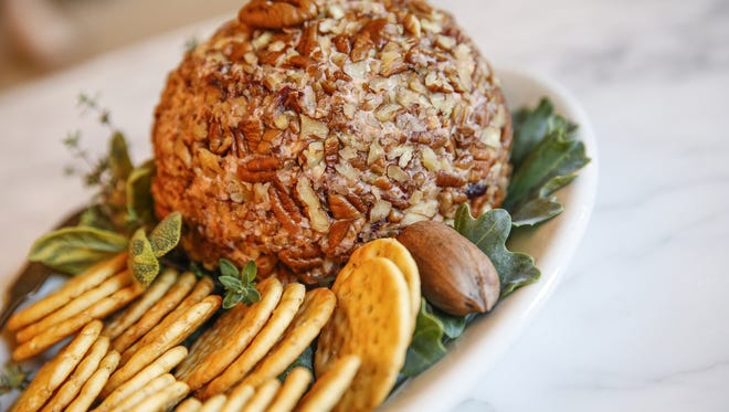Dish by Liz Biro - Food writer at the Indianapolis Star - Port Cherry Cheese Ball.