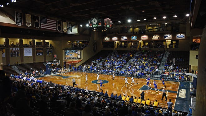 SDSU takes on East Tennessee State in a Sanford Pentagon Showcase game Saturday, Nov. 26, 2016, at the Sanford Pentagon in Sioux Falls.