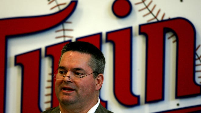 This Feb. 23, 2009 file photo shows Minesota Twins general manager Bill Smith during a news conference in Fort Myers. Smith was instrumental in the construction and renovation of Hammond Stadium.