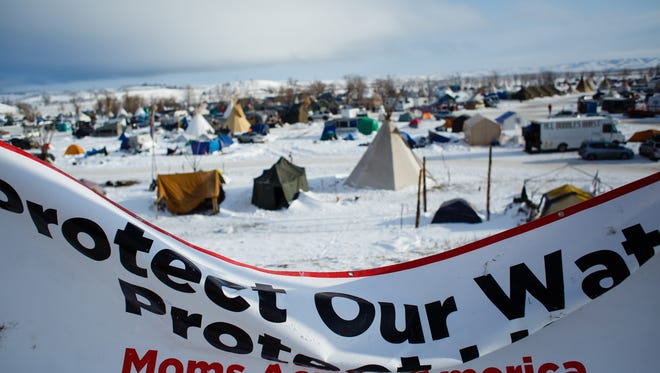 The Oceti Sakowin Camp near the Standing Rock Reservation on Saturday, Dec. 3, 2016 near Cannon Ball.