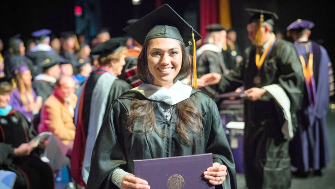 A proud moment for this graduate of Western New Mexico University.
