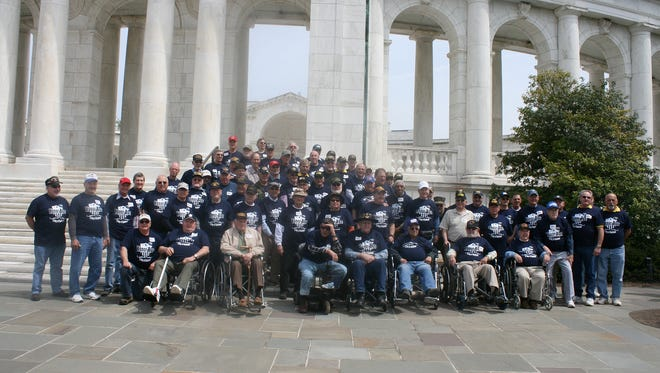 Northeastern High School regularly organize Honor Bus trips for veterans to Washington, D.C. This photo was taken on a previous trip.