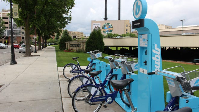 The Bublr Bikes bike sharing network is moving its operations from Schlitz Park to the Grand Avenue mall.