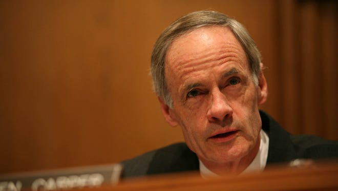 Sen. Thomas Carper has sharply criticized President Donald Trump's nominee to lead the Environmental Protection Agency, Scott Pruitt.