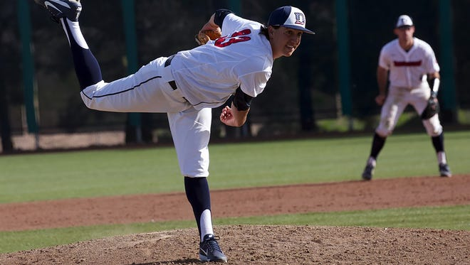Dylan File threw seven strong innings and struck out nine to lead the Trailblazers to a big win over Holy Names in the first game of a doubleheader Saturday. With the win, File improved to 3-0 on the year.