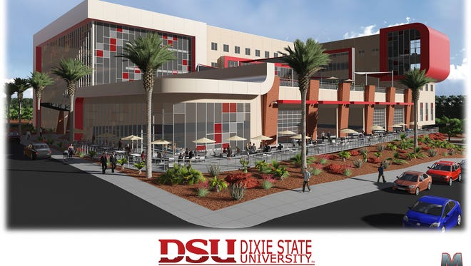 An artist's rendition of the new Human Performance Student Wellness Center at Dixie State University. Construction is expected to begin in the fall.