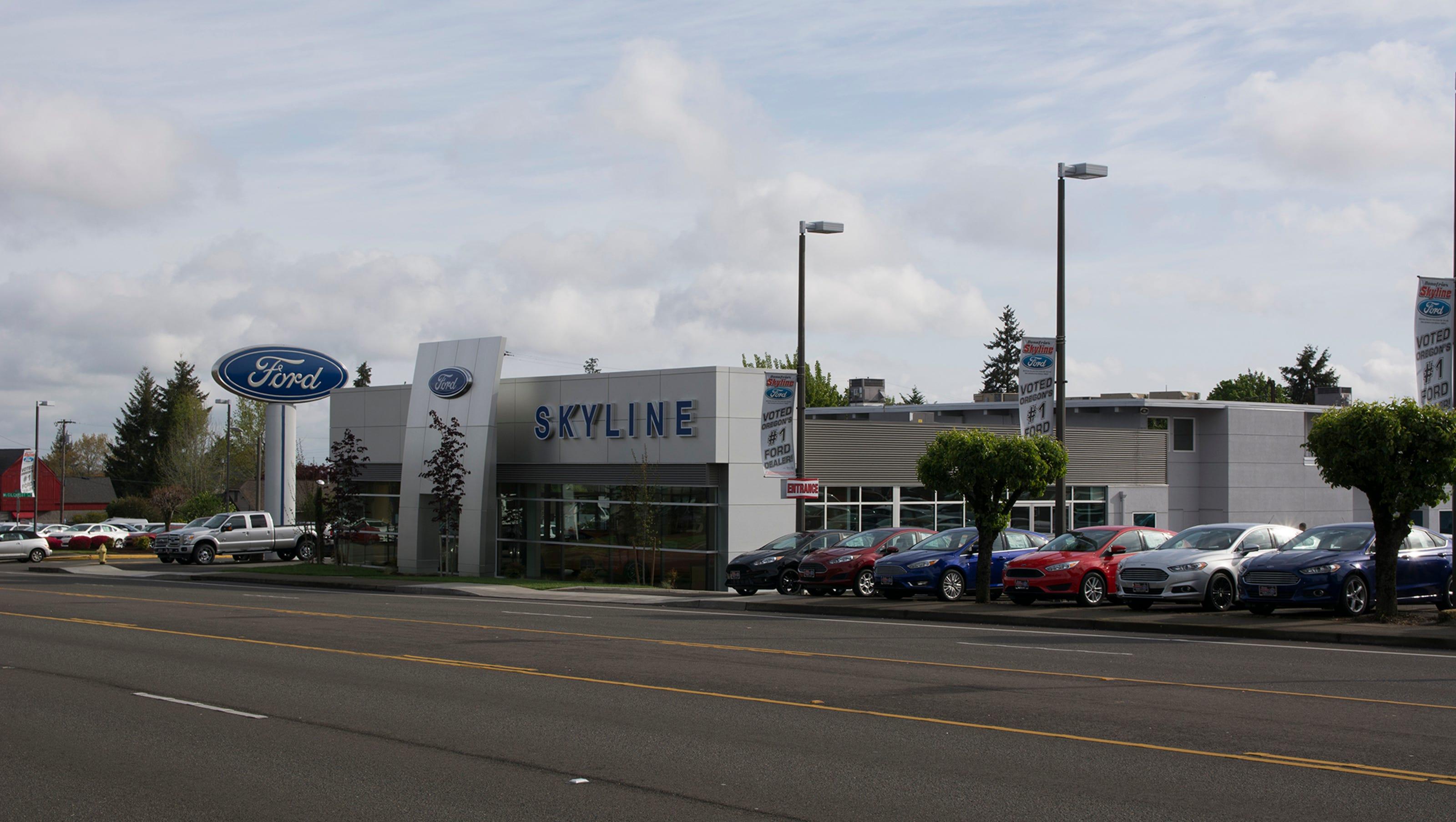 Skyline named best ford dealer in oregon for 4th year