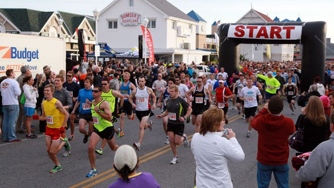 Runners take part in a previous half marathon in Ocean City. This year's event is Saturday, April 29.