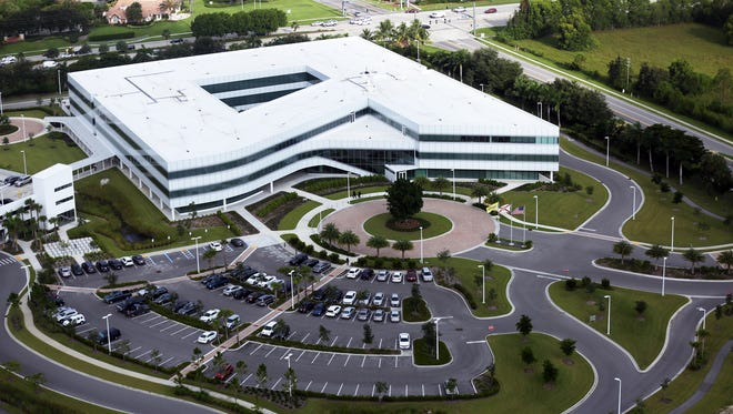 Aerial view of the Hertz Global Holdings corporate headquarters in Estero on Aug. 24, 2016.