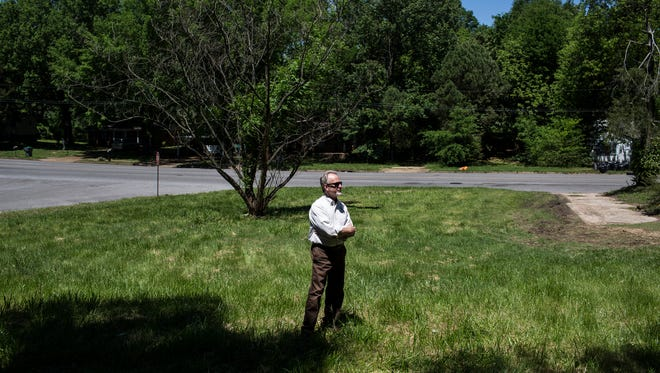 May 2, 2017 - Steve Lockwood, executive director of the Frayser Community Development Corporation, stands in one of the vacant lots where the Frayser CDC plans to build two homes. The Frayser Community Development Corporation has been awarded $475,000 from the city to start building houses to sell.