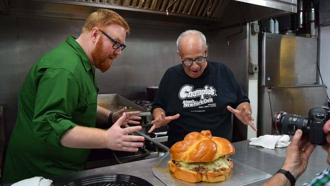 """Josh Denny of """"Ginormous Food"""" (left) and Brian Becker of Chompie's."""