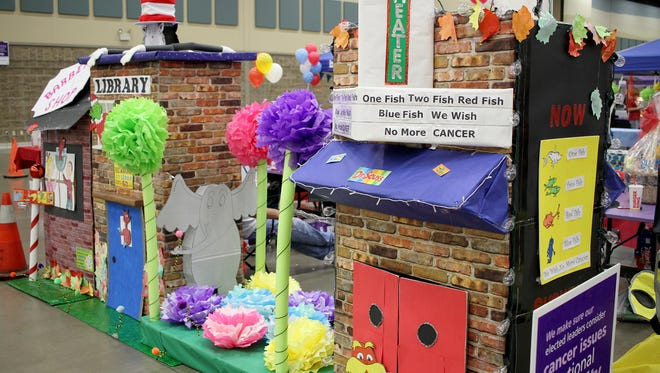 Campsites were decorated with different Dr. Seuss themes at the Wichita County American Cancer Society Relay for Life Friday, June 2, 2017, in the MPEC Ray Clymer Exhibit Hall.
