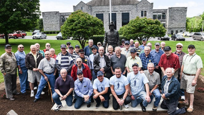 The Cornwall Iron Miners held their last reunion picnic on Saturday, June 3, 2017. The day included visiting the newly landscaped Cornwall Miner statue at Cornwall Elementary School.
