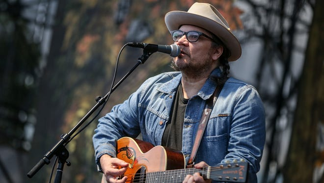 Jeff Tweedy performs with Wilco at the Farm Bureau Insurance Lawn at White River State Park in Indianapolis on Tuesday, June 13, 2017.