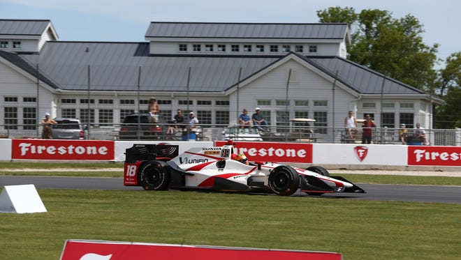 Esteban Gutierrez participates in practice for the Kohler Grand Prix.