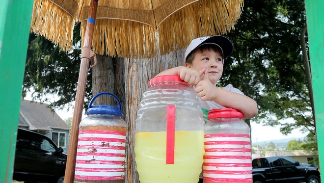 Four-year-old Rylee Allowishes Delaney is CEO and president of RAD Drinks. He takes his job very seriously and has a growing following in the Forest Ridge Park area where he lives.