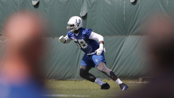 It's early, but third-round pick Tarell Basham has a ways to go at Colts camp.