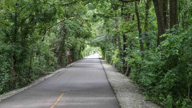 The Monon trail next to the Monon Community Center in Carmel Indiana on Thursday June 15, 2017.