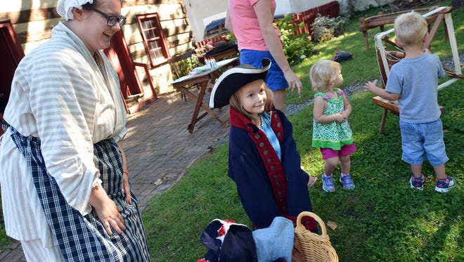 The York County History Center holds a Play 1700 Dress Up event at the Colonial Complex in York, Wednesday, Aug. 9, 2017.  John A. Pavoncello photo