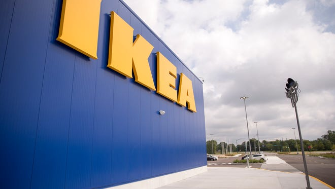The under-installation IKEA, in Fishers, which is slated to have its grand opening on October 11, Fishers, Tuesday, August 29, 2017. The building is up, and crews are working on putting together product and arranging the sales floor.