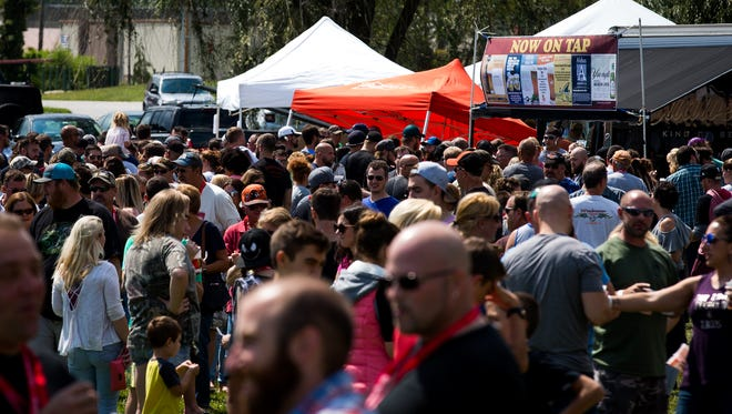 Crowds pack Good Field during the annual Hanover Chili Cook Off on Sunday, Sept. 3, 2017 in Hanover.