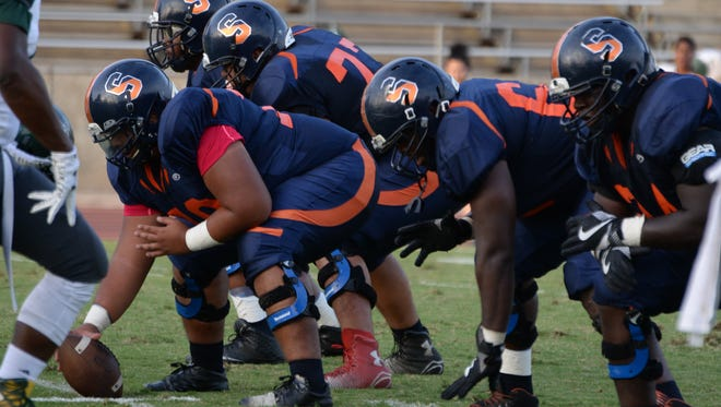 The COS Giants' football team is returning four offensive linemen from the 2016 season.