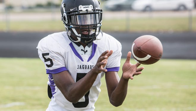 September 27, 2017 - Southwind's Mark Freeman during Tuesday afternoon's Southwind High School football practice.
