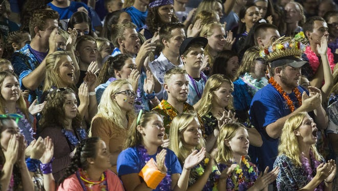 Kennard-Dale fans cheer during the game. Kennard-Dale plays Dover in football at Kennard-Dale High School in Fawn Grove, Friday, October 6, 2017.