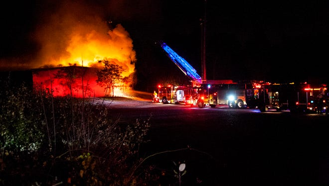 At about 1AM a passerby noticed flames coming from a church on Union St and called 911 in Scottsville