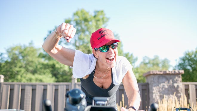 """""""Spinning® class is for everyone,"""" says Kris Laine, a spin and fitness instructor at Genesis Health Clubs - Miramont and REVE Fitness. """"You get people who think, 'I can't do that. I can't walk into that studio.' They see people walk out red-faced and sweaty, wrecked if you will. If you allow the mind-body discipline to work, you'll see results."""""""