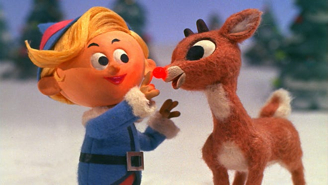 "Hermey the dentist reminds Rudolph of his special gift in ""Rudolph the Red-Nosed Reindeer."""