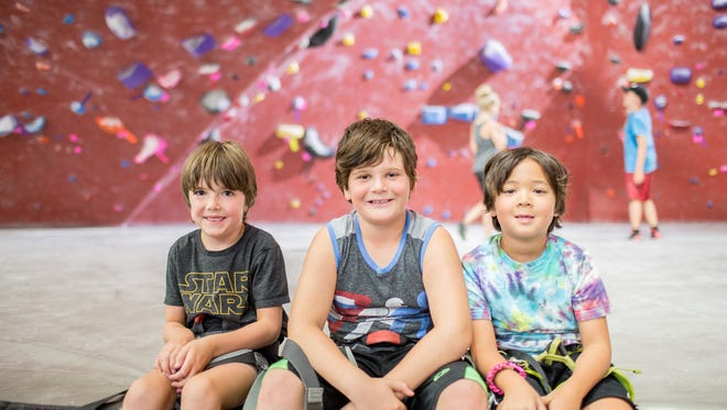 Kids spend their days playing games on the climbing walls, learning the basics of the sport, and exercising their creative muscles with craft-time.