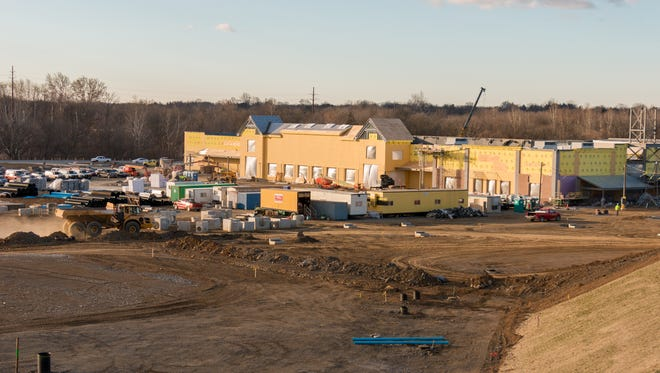 This is overlooking the construction site where a new Wegmans is being built outside Lancaster.