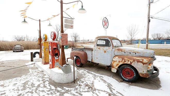 Bob Norris's replica of a vintage Texaco service station is a blast from the past. Visitors can get a glimpse of his collection at Grade A Welding, located along Lakeshore Drive, just north of Fond du Lac.