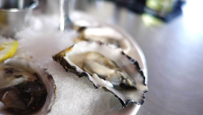 Raw oysters.