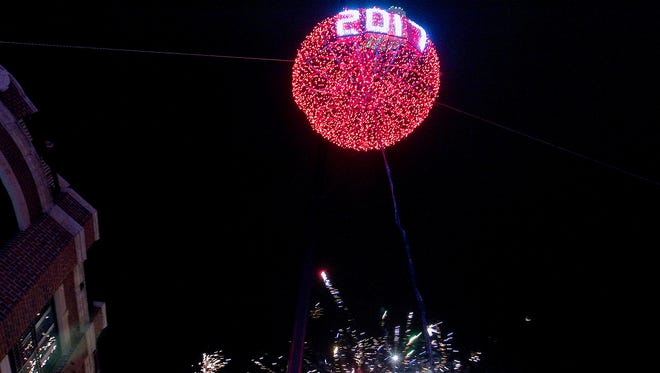 The upcoming Sister Bay extravaganza is modeled after a nine-year-old cherry ball drop in Traverse City, Michigan, another bountiful orchard region directly across Lake Michigan.