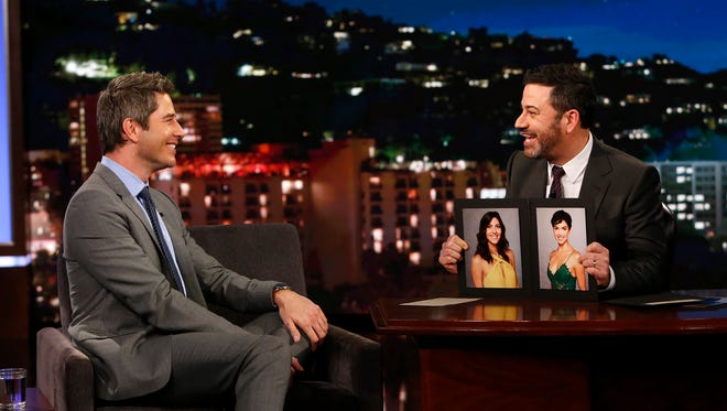 "Arie Luyendyk Jr. of ""The Bachelor"" appeared on ABC's ""Jimmy Kimmel Live!"" Tuesday, Jan. 2, 2018."