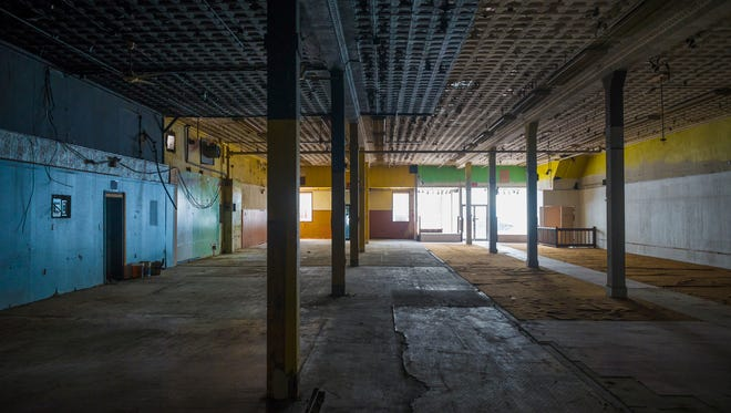 The street level floor with 15-foot ceilings is seen during a viewing of the interior of the Montgomery Ward building at 34 Frederick Street in Hanover on Tuesday, Oct. 16, 2014