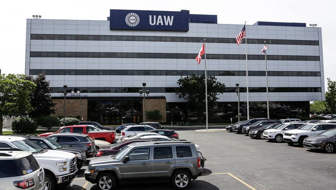 UAW headquarters as seen in July 2017 in Detroit. Three more UAW officials are next on the indictment list in the Fiat Chrysler and UAW bribery scandal.