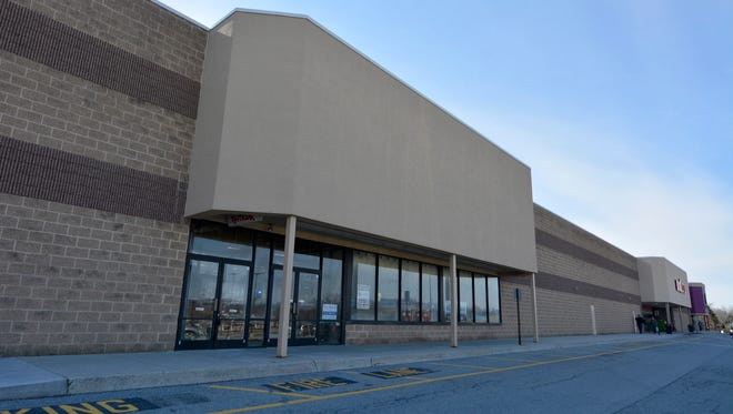 The former TJ Maxx building, located between Big Lots and Red Wing Shoes, is being turned into a trampoline facility.  Saturday, February 17, 2018.  John A. Pavoncello photo