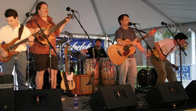 Jef Chandler, shown here in 2004 with the Jef Chandler Band, will be honored at fund-raising shows.