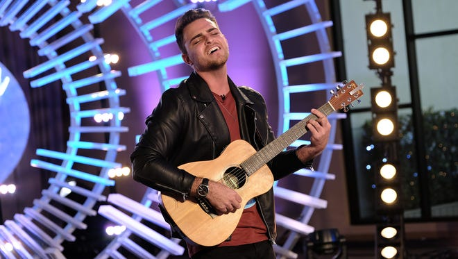 "Cape Coral native Ricky Manning performs during his March 18 audition on ""American Idol"""