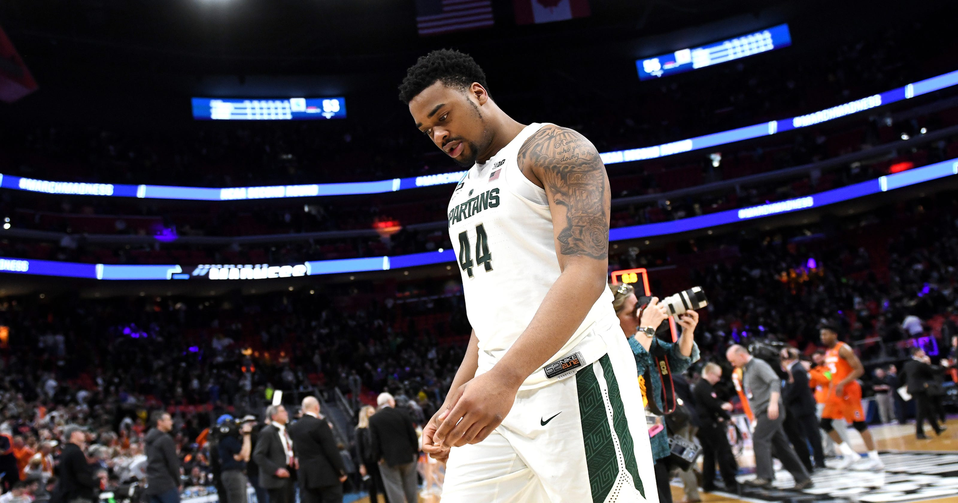 a9801d45e Michigan State s Nick Ward on the clock  Test NBA draft or return