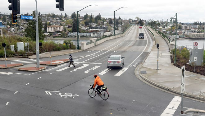A roundabout is proposed on the western intersection of the Manette Bridge and Washington Ave. in Bremerton.