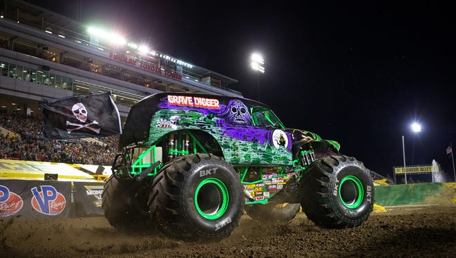 Krysten Anderson is the first female to drive iconic monster truck Grave Digger. She is daughter of Grave Digger creator Dennis Anderson.