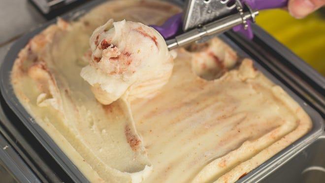 Free gelato at Zingerman's Creamery.