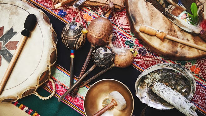 Tools used by Two Bunch Palms resident shaman Dani Burling