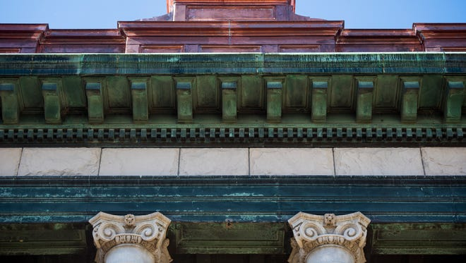 Old and new copper decorates the Cascade County Courthouse.